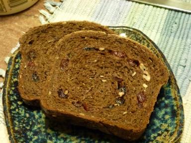 chocolate cherry pumpernickel with pecans
