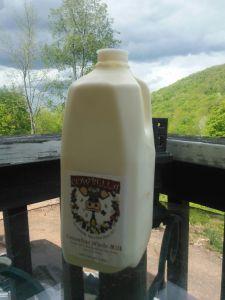 Jersey milk... mmmmm, creamy. Note the moody sky...